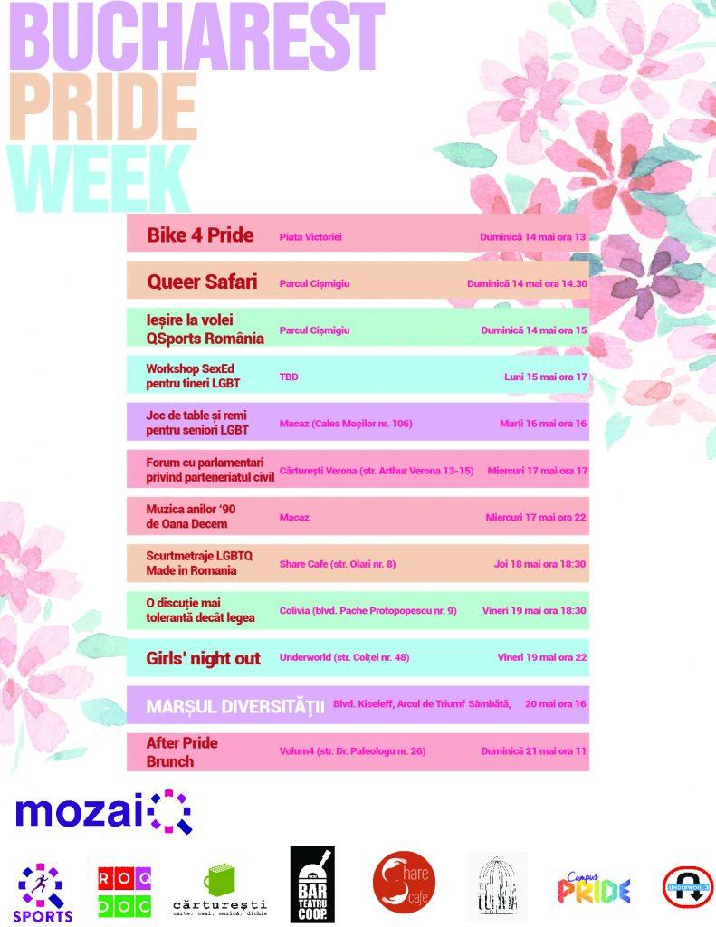 Evenimente MozaiQ cu ocazia Bucharest Pride 2017!