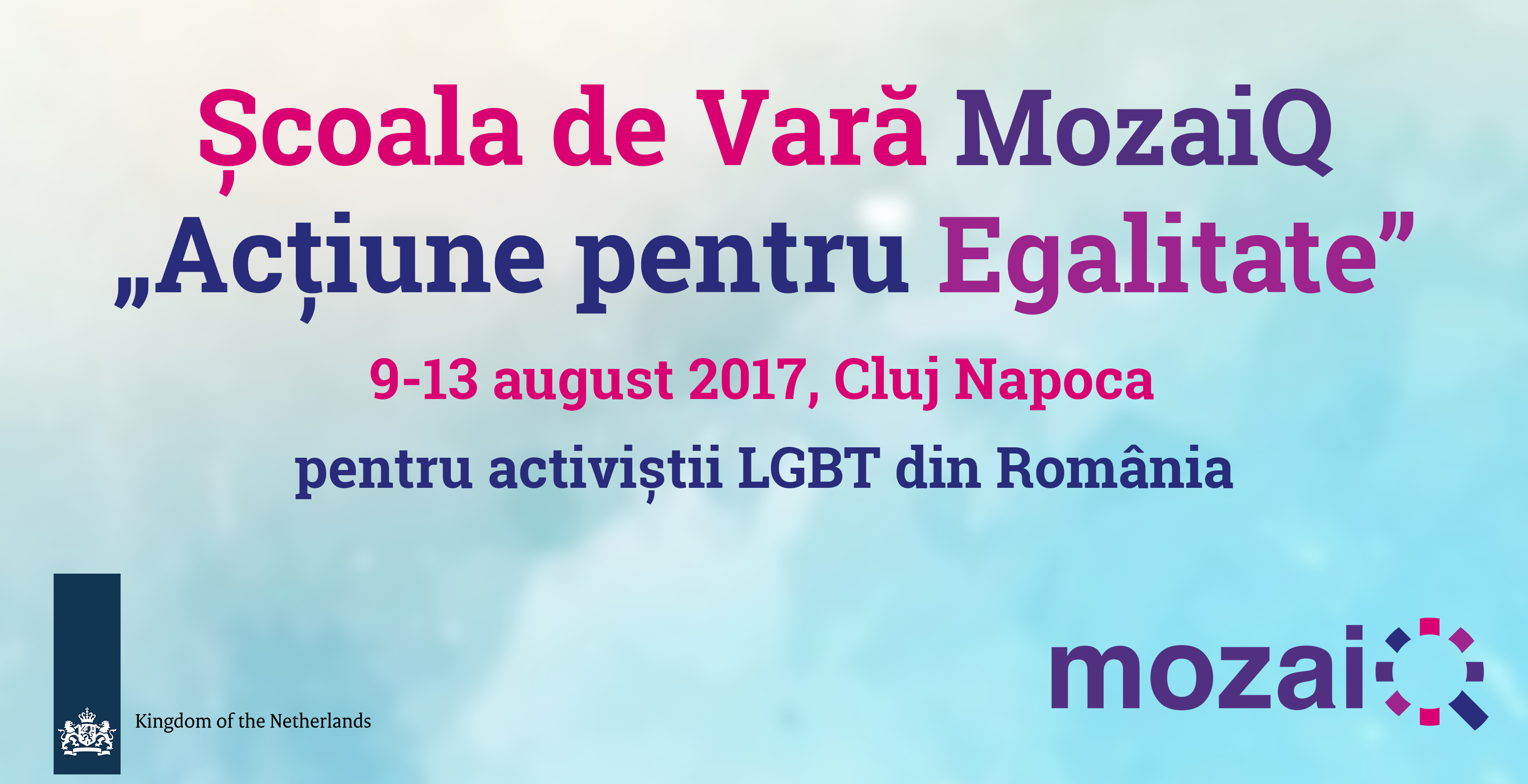 """Școala de Vară MozaiQ """"Acțiune pentru Egalitate"""""""